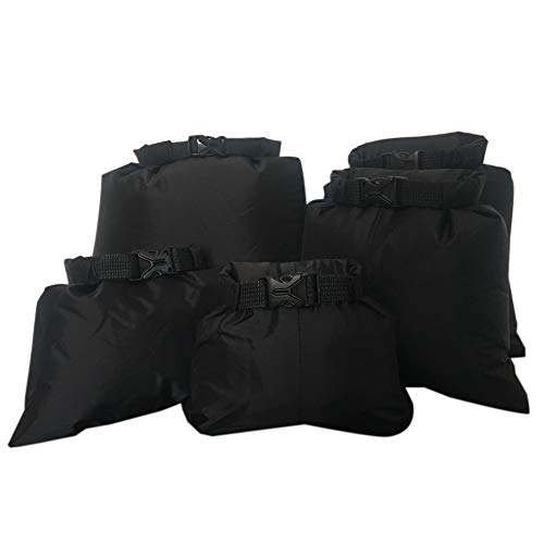 Aesy Waterproof Dry Bag Set, Lightweight Combo with 1.5L, 2.5L, 3.5, 4.5L, 6L Sacks, Perfect for Kayaking, Rafting, Boating, Hiking, Camping, Cycling, and Fishing