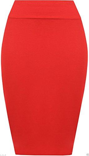 Re Tech UK - Falda - Estuche - para mujer Rosso