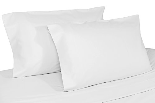 (Whisper Organics Pillow Cases, 100% GOTS Certified Organic Cotton, 400 Thread Count, 2 Pillow Covers (King, White) )