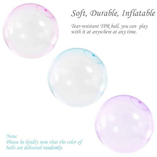 Tikafr - Balón Hinchable con balón de Burbujas (50 cm ...