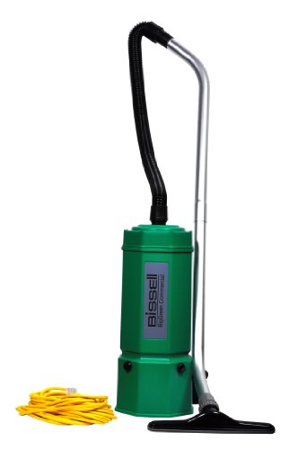 "Bissell BigGreen Commercial BG1006 High Filtration Backpack Vacuum, 1080W, 22.5"" Height, 6 qt Capacity, Red"