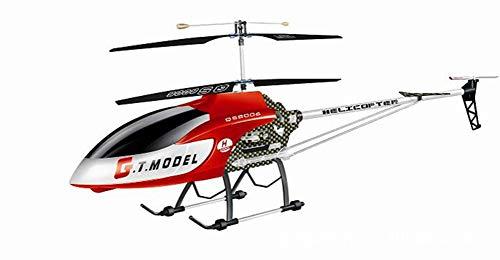 SLONG RC Aircraft -3.5 Channel - 1.34 Metros Aleación Grande Helicóptero Niño Modelo Airplane Boy Toy,Red