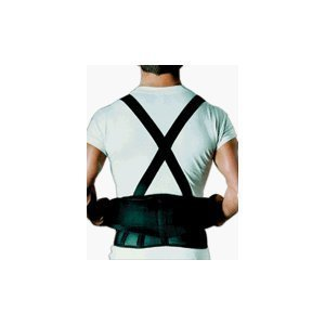 (Sportaid Back Belt With Suspenders Black, Medium/Large - 1 ea by SportAid)