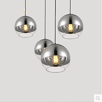 Lámpara de techo moderna/bombilla de cristal/lámpara de techo/bola plateada/diámetro 150 mm/200 mm/250 mm/300 mm/350 mm, 300 mm
