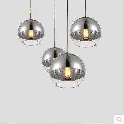 Lámpara de techo moderna/bombilla de cristal/lámpara de techo/bola plateada/diámetro 150 mm/200 mm/250 mm/300 mm/350 mm, 150 mm