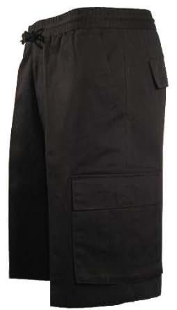 Pantalon corto. Bermudas. Con cordon en la cintura. 6 Bolsillos. Negro (L)