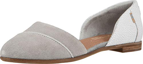 TOMS Women's Jutti D'Orsay Drizzle Grey Suede/Crackle Leather 7 B US