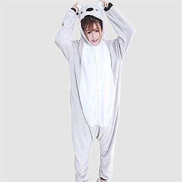 DUKUNKUN Pijamas De Adultos Koala Traje De Pijamas Franela Gris ...