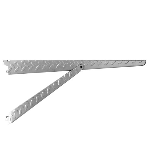 John Sterling HEAVYWEIGHT Diamond Plate Shelf Support System  Supported Shelf Bracket, 20-inch, Platinum, 0203-20PM