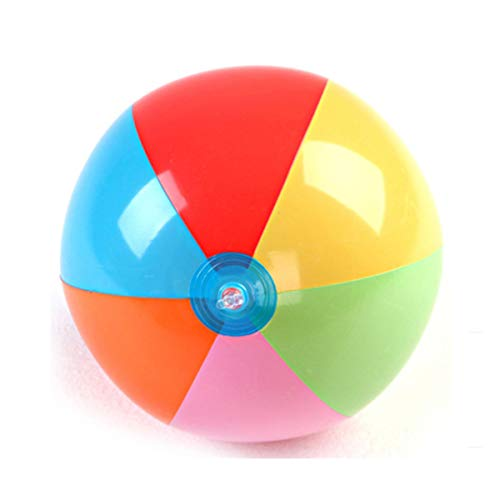 12 Pack Beach Balls, Water ball, Inflatable Rainbow Beach Balls Beach Pool Party Toys Party Favors, 9