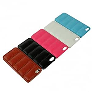 Snake Grain Pattern Touch PU Leather Case For iPhone 5 5S --- Color:Black