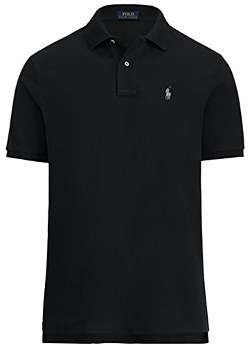 Polo Ralph Lauren Men's Classic Fit Mesh Polo Shirt (Polo Black, Medium)