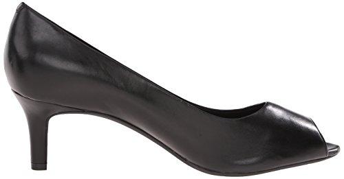 Rockport TOTAL MOTION FINULA Peep Toe Bomba de vestido de la mujer Black Calf