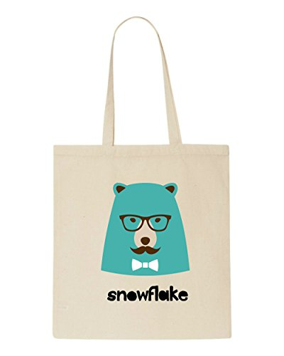 Tote Quote Shopper Hipster Bear Beige Bag Style Snowflake Animal Character Vintage wWXScqSB0