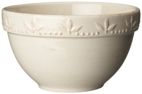 Signature Housewares Sorrento Collection 30-Ounce Utility Bowl, Ivory Antiqued Finish