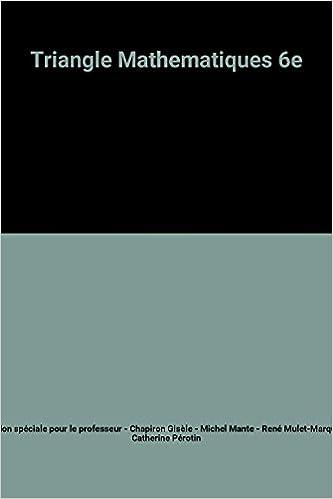 Lire Triangle Mathematiques 6e pdf, epub ebook