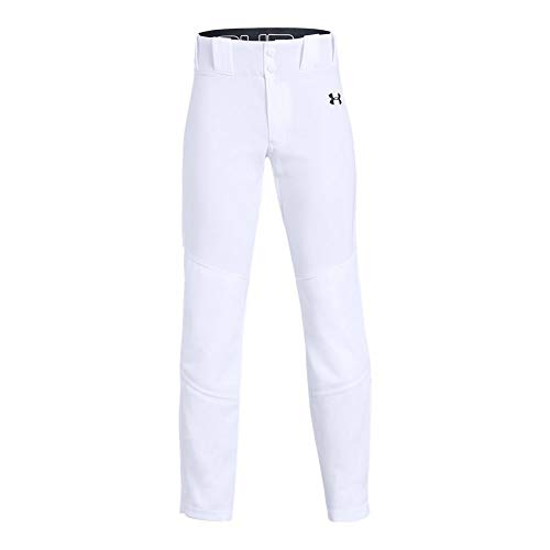Under Armour Boys IL Ace Relaxed Pants, White (100)/Black, Youth X-Large