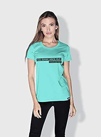 Creo Ice Bank Mice Elf Funny T-Shirts For Women - M, Green