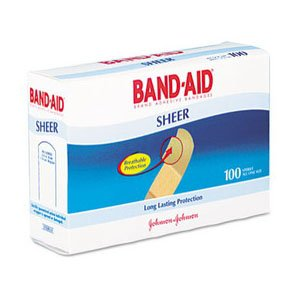 Band-Aid Adhesive Sheer Strip Bandage 3/4