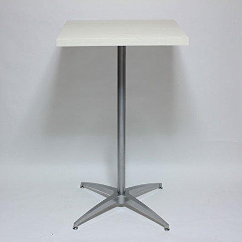 カウンターテーブルコーヒーテーブル幅60×奥行60×高さ102cm ホワイト B016AXPYVK