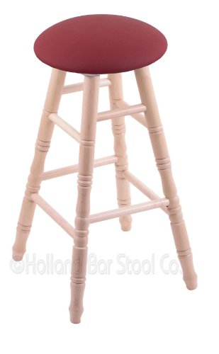 Maple Extra Tall Bar Stool in Natural Finish with Allante Wine - Finish Pub Maple Bar Wood