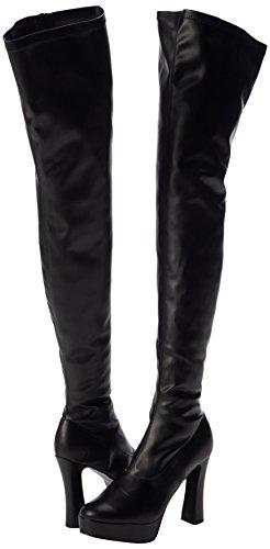 Electra blk Faux negro blk Mujer Leather 3000z Matte Str Botines Pleaser Negro BxO61fwq1d