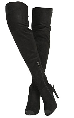 Ikrush Womens Ravelle Lace up Knee High Boots Black gQO4nX