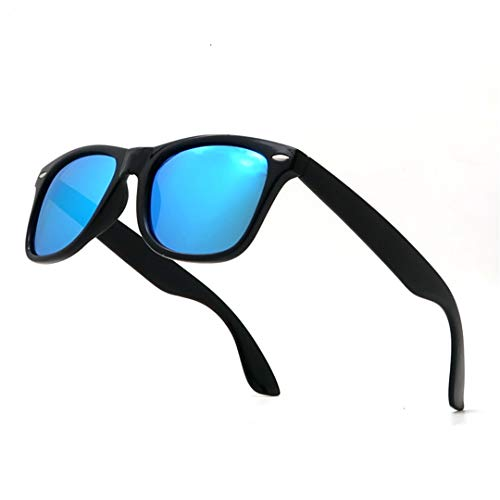YHNSHKHKU Classic Sunglasses Men Polarized Women Blue Lens Polarizing Night Driving Polarised Sun Glasses Not Include Box 3 Black ()