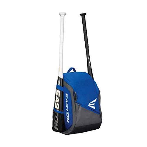 - EASTON GAME READY YOUTH Bat & Equipment Backpack Bag | Baseball Softball | 2020 | Royal | 2 Bat Sleeves | Main Compartment for Glove and Helmet | Valuables Pocket | Fence Hook