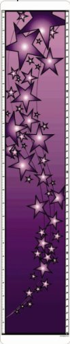 Purple Stars Design Growth Chart; Growth Chart Measures Heights From 24