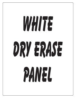 "NEOPlex 18"" x 24"" White Dry Erase Replacement Panel for Sidewalk Sandwich Board A-frame Signs"