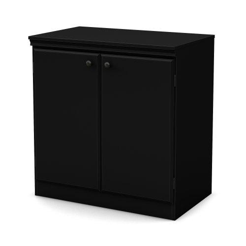 South Shore Morgan Storage Cabinet  Pure Black