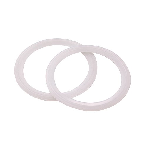 DERNORD Silicone Gasket Tri-Clover (Tri-clamp) O-Ring - 3 Inch (Pack of 2) ()