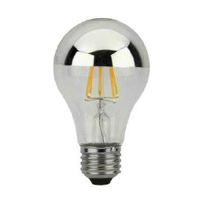 Eiko - (6 Pack) LED Filament Bulb A19 320 Degree 7 Watt Silver Bowl Dimmable 2700K - LED7WA19/FIL/SB/827K-DIM-G7 - 09441