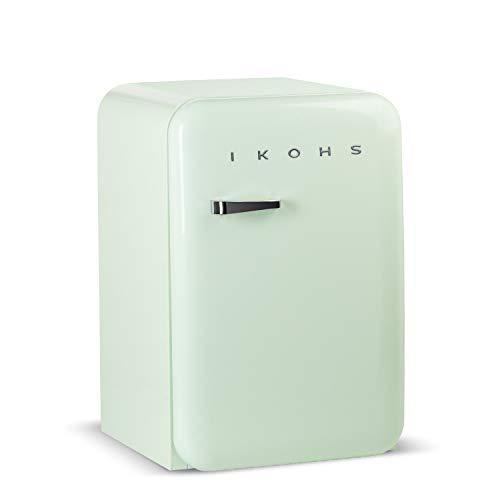 IKOHS Retro Fridge – Frigorífico con diseño, Control de Temperatura Ajustable, Estantes Intercambiables, Estética…