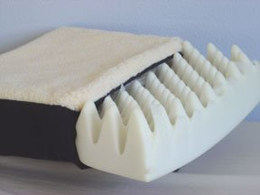 Seat Cushion, Fleece Cover, Convoluted Foam & Gel, 18 Inches x 16 Inches x 3.5 Inches.