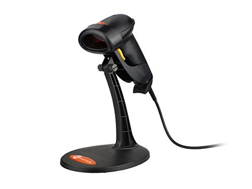 TaoTronics USB Barcodescanner Laser Barcode Scanner / automatisch Ablesen Barcodescanner / 80mm Lesebreite / 100 Scans pro Sekunde / mit Ständer schwarz