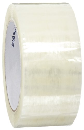 Intertape Polymer Group F4020-05 6100 Utility Hot Melt Carton Sealing Tape, 1.6 mil Thick x 100M Length x 48mm Width, Clear, Case of 36 Rolls