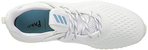 Adidas Originali Mens Alphabounce 1 Parley M Scarpa Da Corsa In Tinta Con Il Neon, Tinto Al Neon, Tessuto Blu Vapore