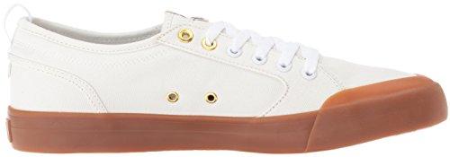 DC Men's Evan Smith TX Skateboarding Shoe, Off White/Gum, 12 M US
