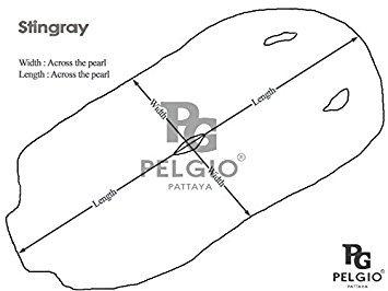 PELGIO Genuine Stingray Skin Leather Hide Pelt Black 6 x 10