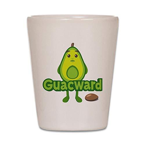 Glass Avocado - CafePress Emoji Avocado Guacward Shot Glass, Unique and Funny Shot Glass