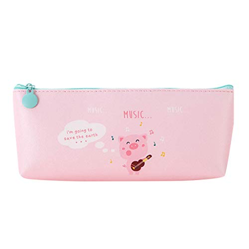 - TOPBIGGER Primary and Middle School Students Pig Pen Pencil Animal Series Pencil Bags Office Stationery Storage Bag Zipper Pencil Case