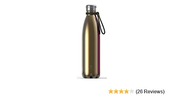 790dd67664 Amazon.com: Manna Vogue Double-Wall Insulated Bottles, (Assorted Colors and  Sizes) (25 oz - 750 ml, Gold - with Carry All Handle): Kitchen & Dining