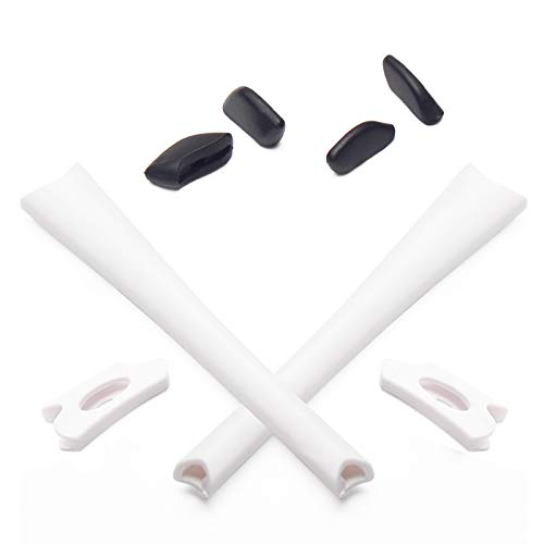 Mryok Replacement Earsocks Nosepieces Kits for Oakley Flak Jacket XLJ Sunglass - White