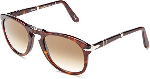 Persol PO0714 24/51 Tortoise PO0714SM Square Sunglasses, Tortoise, Size 54 mm