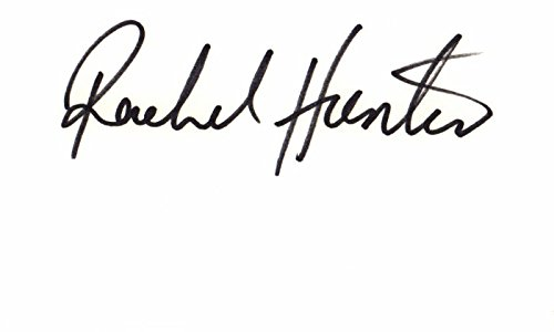 - Rachel Hunter Signed - Autographed 3x5 inch Index Card - Supermodel - Actress - Fashion Model