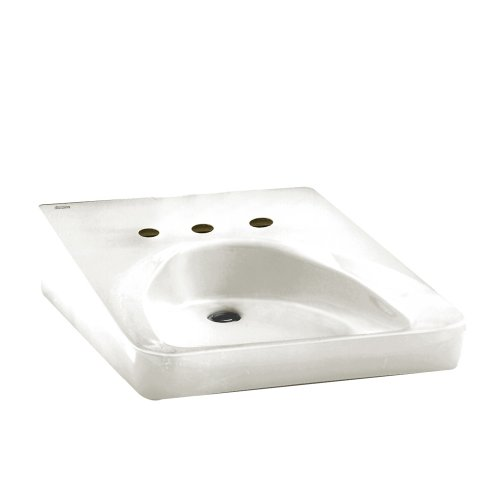 American Standard Wheelchair - American Standard 9140.013.020 Wheelchair Users Wall Mount Bathroom Sink with 10-1/2-Inch Centers, White