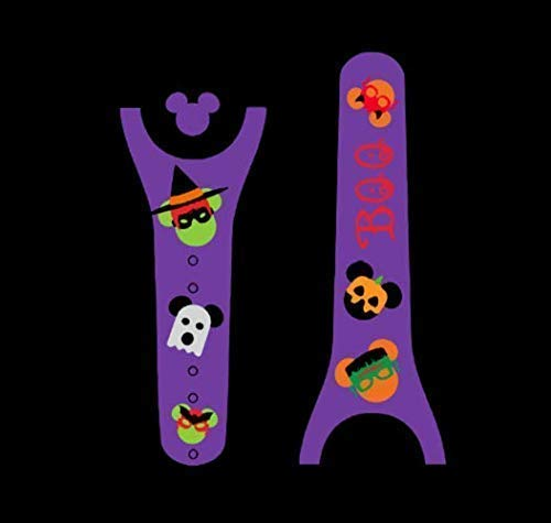 Vinyl Skin Decal Wrap Sticker Cover for the MagicBand 2 Magic Band 2 Halloween Mouse Head -
