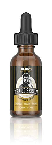 Beard Growth Serum- Stimulates & Repairs New Follicle Growth. Grow Stronger, Thicker, Fuller, Longer, Healthier Beard & Mustache Hair. (Best Beard Growth Serum)